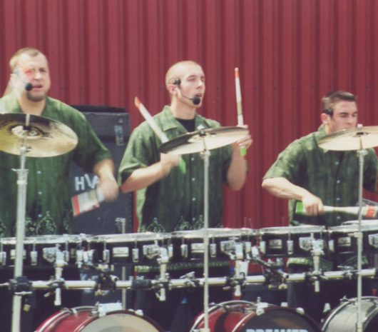 Hip Pickles playing cymbals