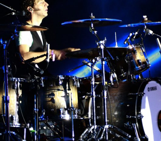 Ian Casselman playing cymbals