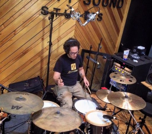 Ismael Baiz playing cymbals