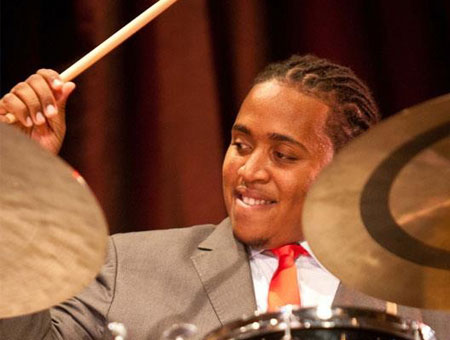 Jamison Ross playing cymbals