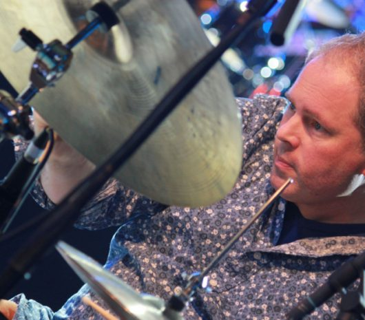 Jim White playing cymbals