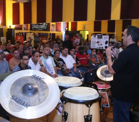 Jimmie Morales playing cymbals