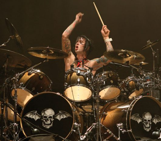 Jimmy 'The Rev' Sullivan playing cymbals