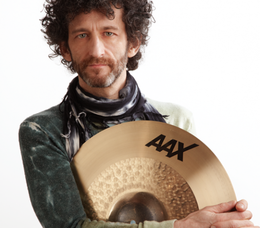 Jojo Mayer playing cymbals