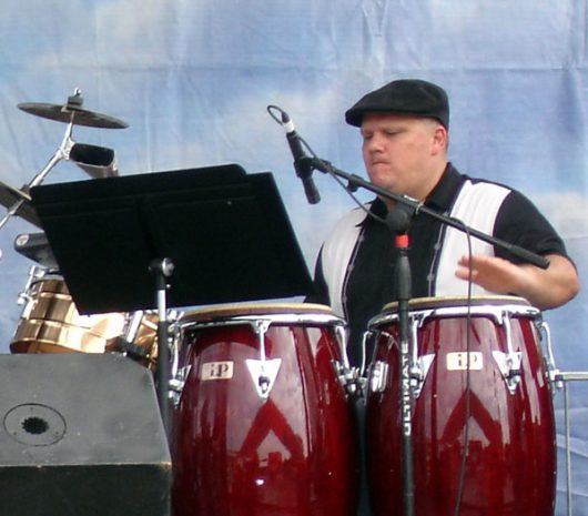 Jorge Ginorio playing cymbals