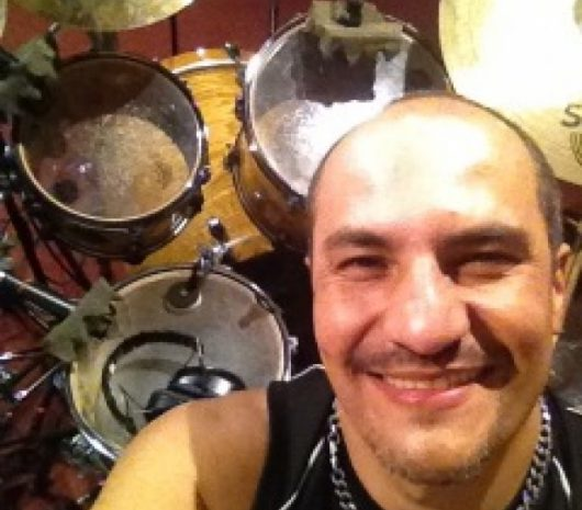 Jorge Forero playing cymbals
