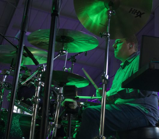 Jose Luis Guerrisi playing cymbals