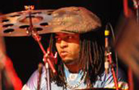 "Jovol ""Bam Bam"" Bell playing cymbals"