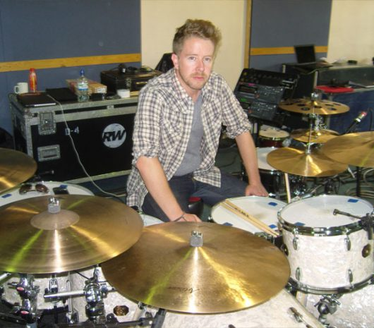 Karl Brazil playing cymbals