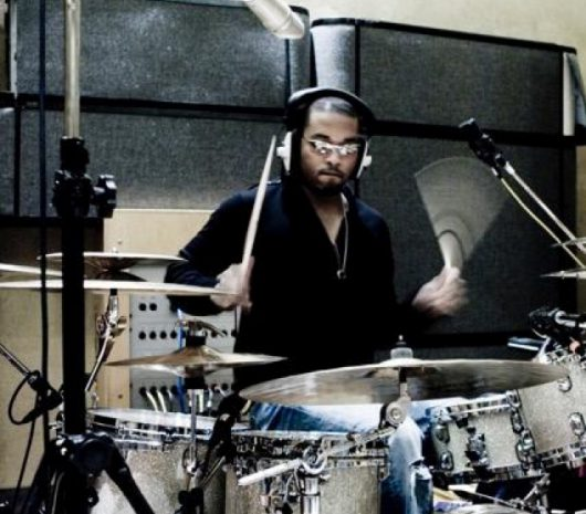 Keith Harris playing cymbals