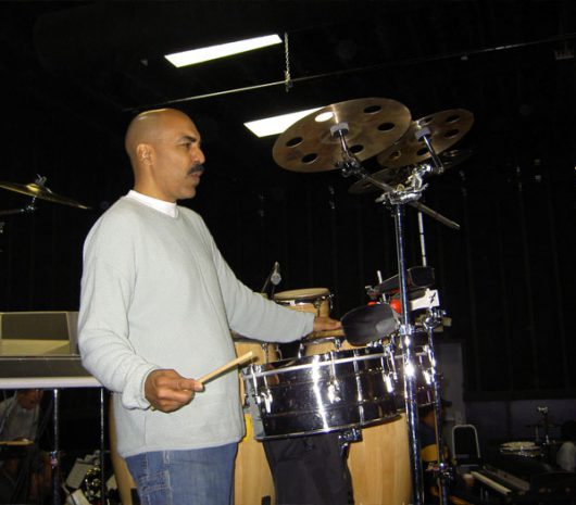 Kevin Ricard playing cymbals