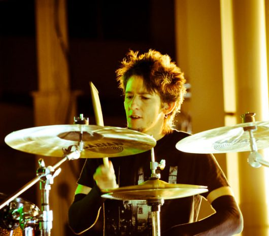 Kin Rivera Jr. playing cymbals