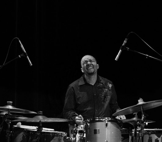 Marcus Baylor playing cymbals