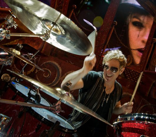 Mark Schulman playing cymbals