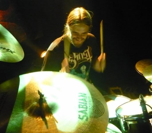 Martin Axenrot playing cymbals