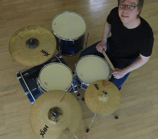 Martin Denzin playing cymbals