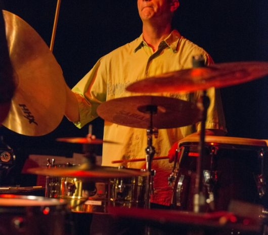 Mat Britain playing cymbals