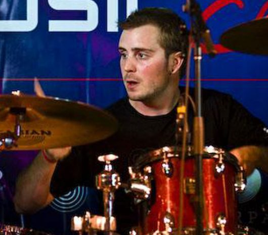 Matt Richmond playing cymbals