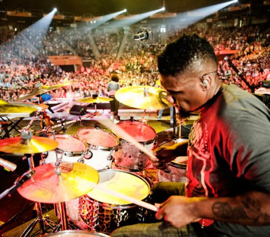 "Michael ""Big Mike"" Clemons playing cymbals"