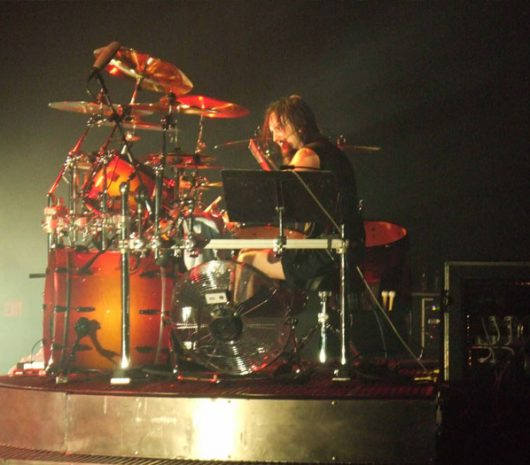 Mike Wengren playing cymbals
