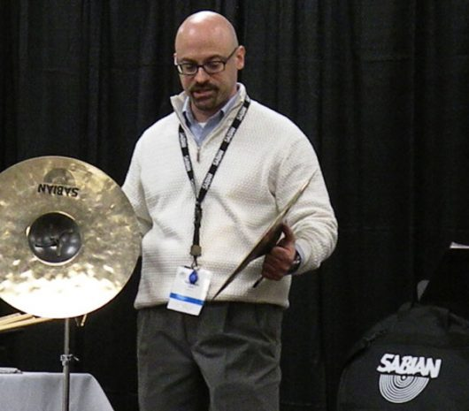 Nick Petrella playing cymbals