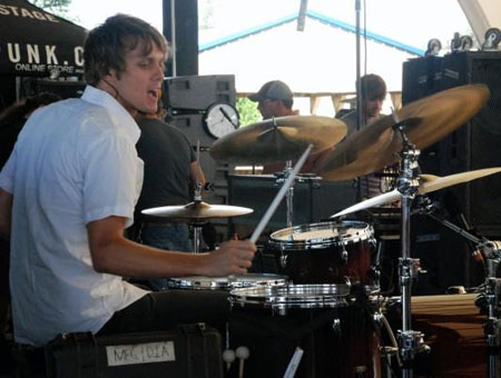 Nick Price playing cymbals