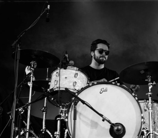 Olivier Campeau playing cymbals