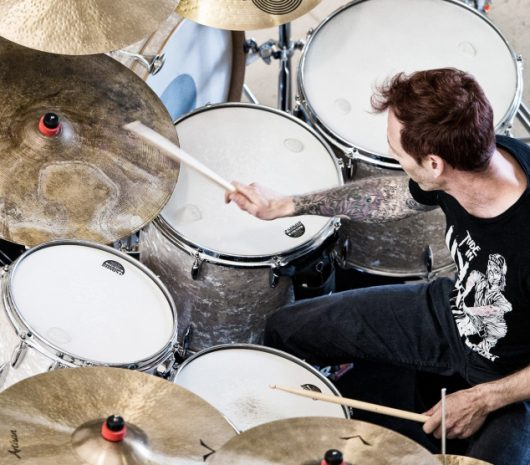 Pedro Martins playing cymbals
