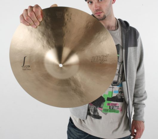 Pete Ray Biggin playing cymbals