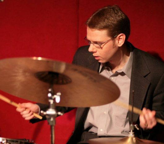 Peter Zimmer playing cymbals