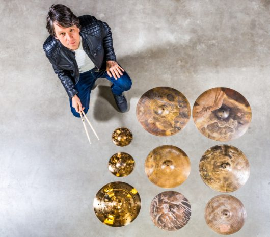 Ralf Gustke playing cymbals