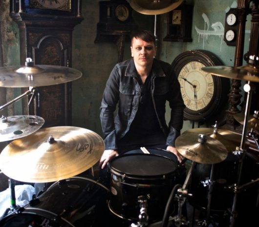 Ray Luzier playing cymbals