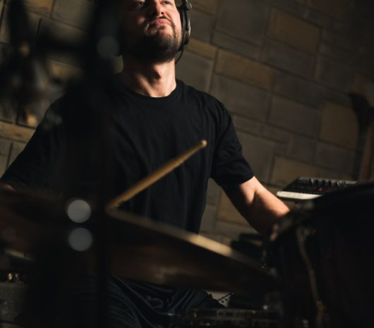 Ray Marte playing cymbals