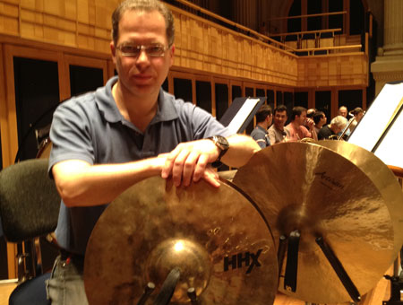 Ricardo Righini playing cymbals