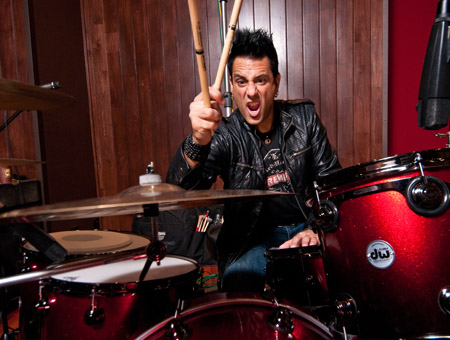 Rich Redmond playing cymbals