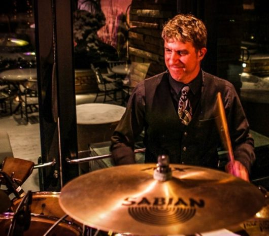 Rich Rychel playing cymbals