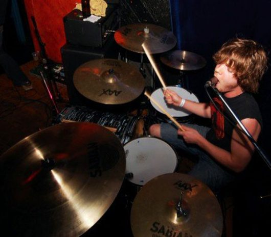 Richie Gregor playing cymbals
