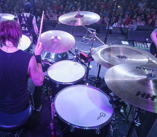Rob Hammersmith playing cymbals