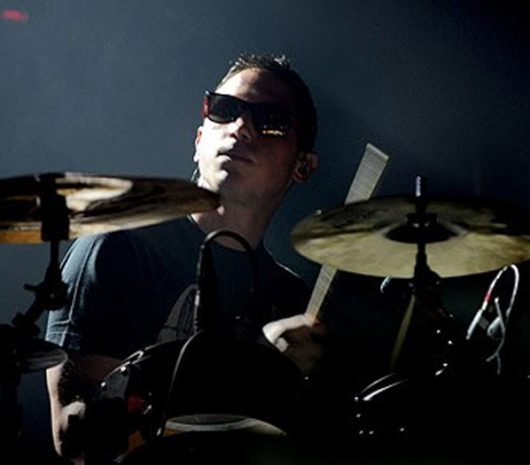 Rob Rolfe playing cymbals