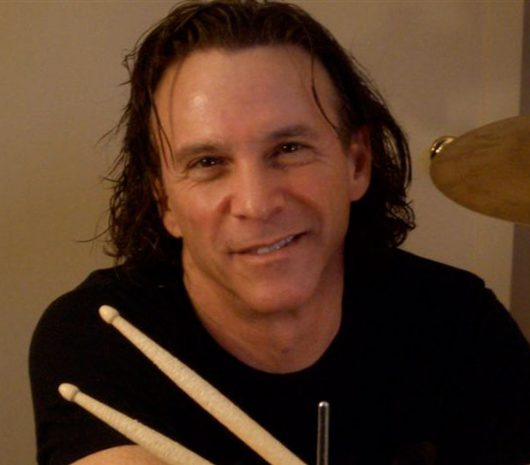 Rod Morgenstein playing cymbals