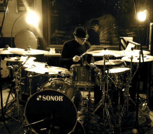 Sean Kilbride playing cymbals