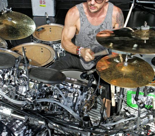 Shannon Leto playing cymbals