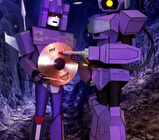 Shockwave playing cymbals