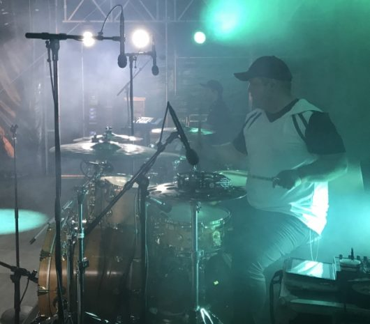 Ole Morten Sommer playing cymbals