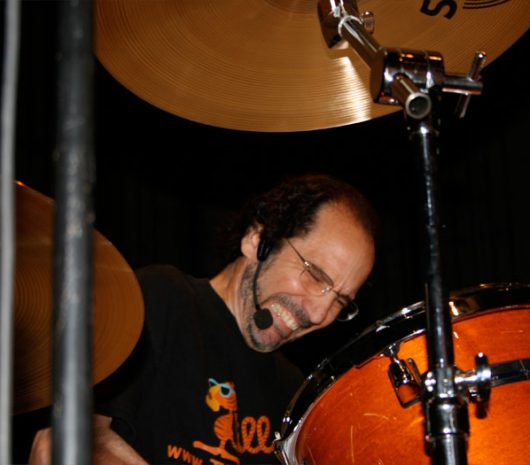 Tiger Bill Meligari playing cymbals