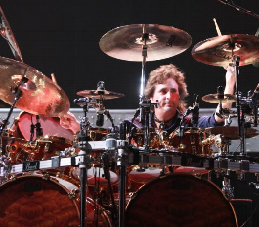 Todd Sucherman playing cymbals
