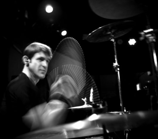Tommy  Diehl playing cymbals