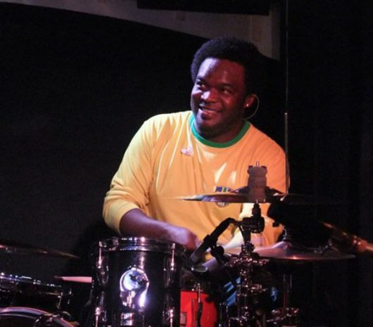 Tony Mason playing cymbals