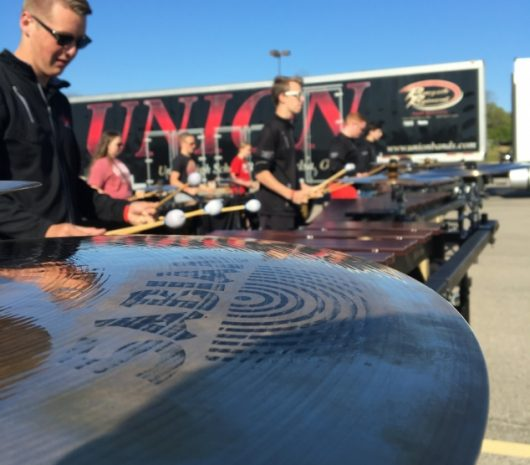 Union High School playing cymbals