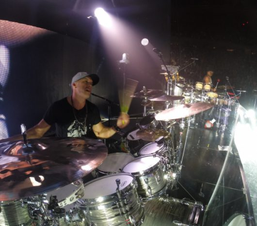 Van Romaine playing cymbals